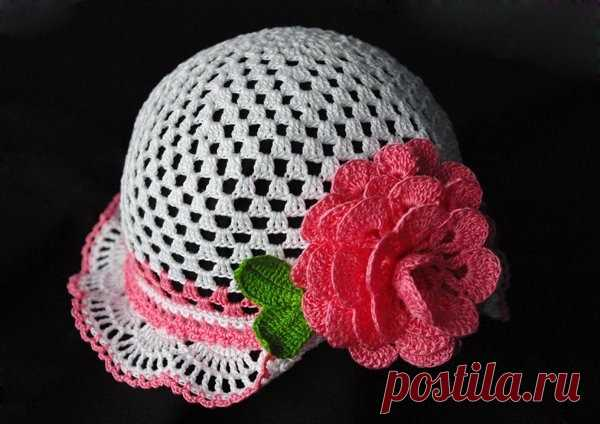 детские шляпки панамки крючком подборка вязаные головные уборы