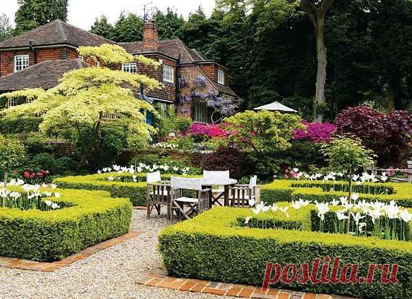 Красивый садик одной милой пары Приятно глазу, так отлично подобраны растения в саду...
