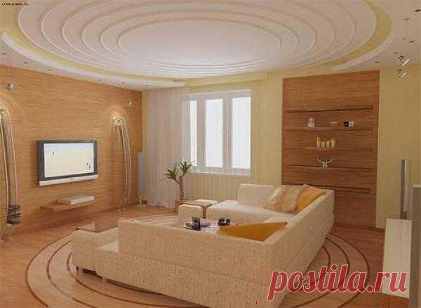 Ремонт гостиной в теплых тонах