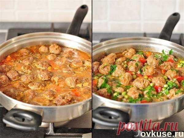 Овощное рагу с фрикадельками - Простые рецепты Овкусе.ру