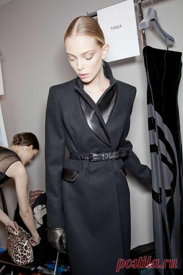 Кожаные детали на классическом пальто / Детали / Модный сайт о стильной переделке одежды и интерьера