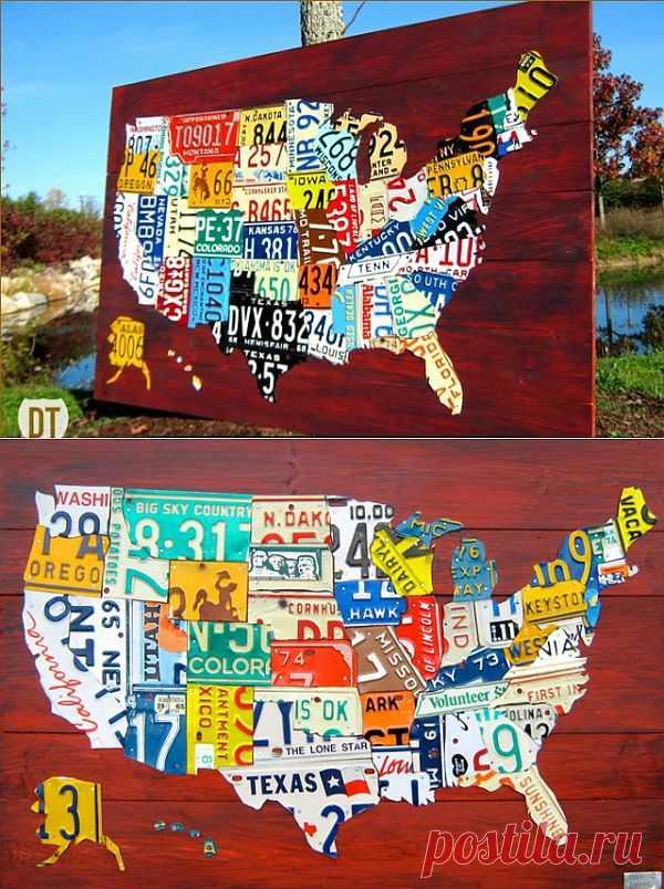 Автомобильные карты США / Арт-объекты / Модный сайт о стильной переделке одежды и интерьера