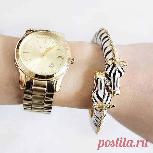 Эффектный браслет в виде зебры. $35 USD