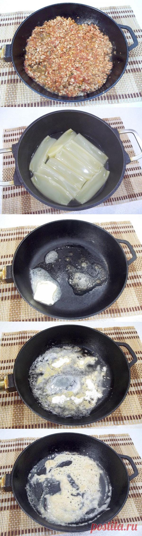 Каннеллони с мясом под соусом бешамель | CityWomanCafe.com