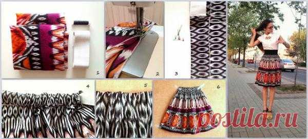 юбка из шарфов