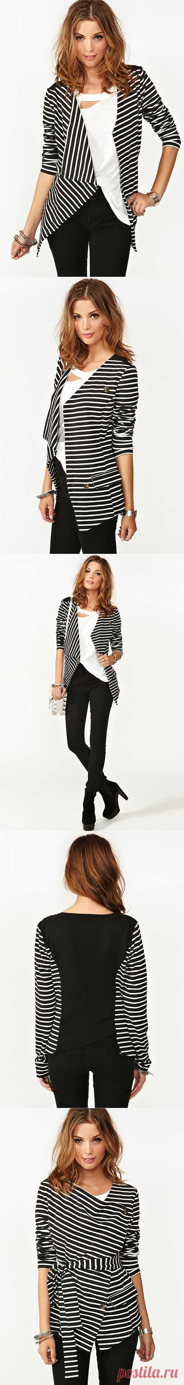 Идеальный пиджак в полоску / Простые выкройки / Модный сайт о стильной переделке одежды и интерьера