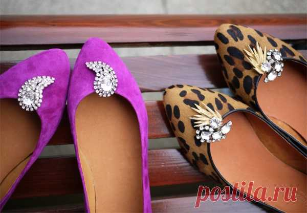 Легкий способ украсить обувь