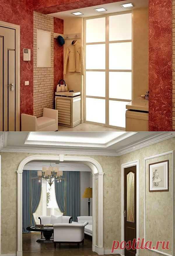 (+1) тема - Варианты отделки стен в прихожей   Интерьер и Дизайн