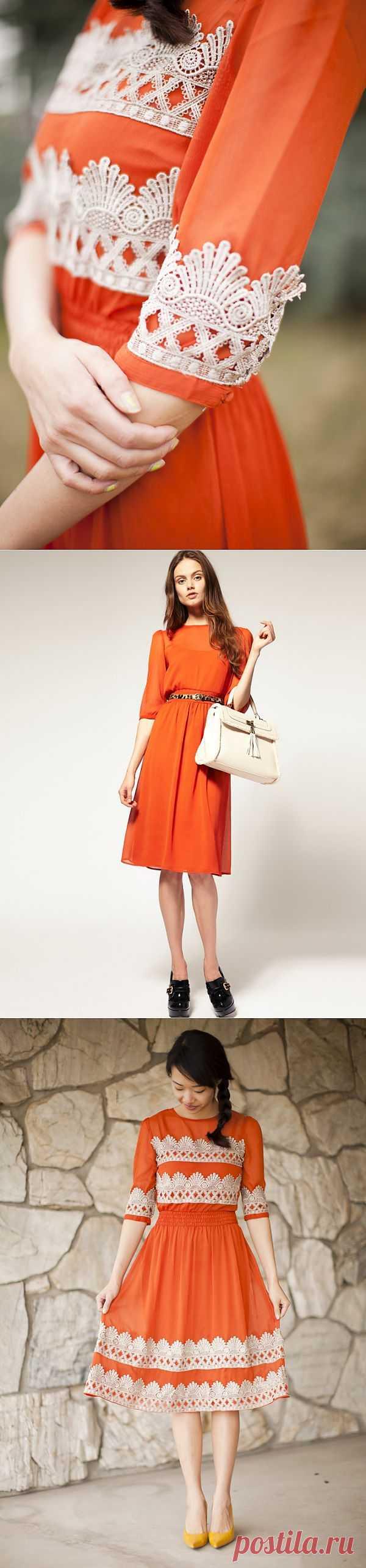 Декор платья кружевом / Платья Diy / Модный сайт о стильной переделке одежды и интерьера