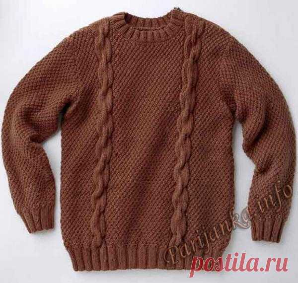 Пуловер (м) 24*92 Phildar №3829