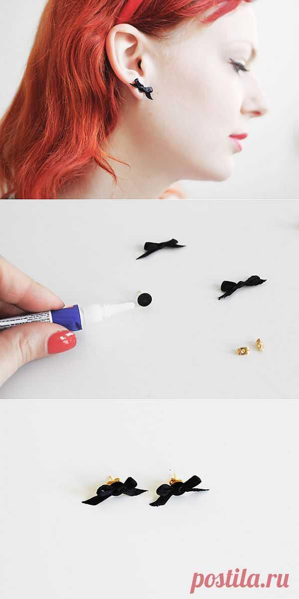 Сережки с бантиками своими руками! (Diy) / Украшения и бижутерия / Модный сайт о стильной переделке одежды и интерьера