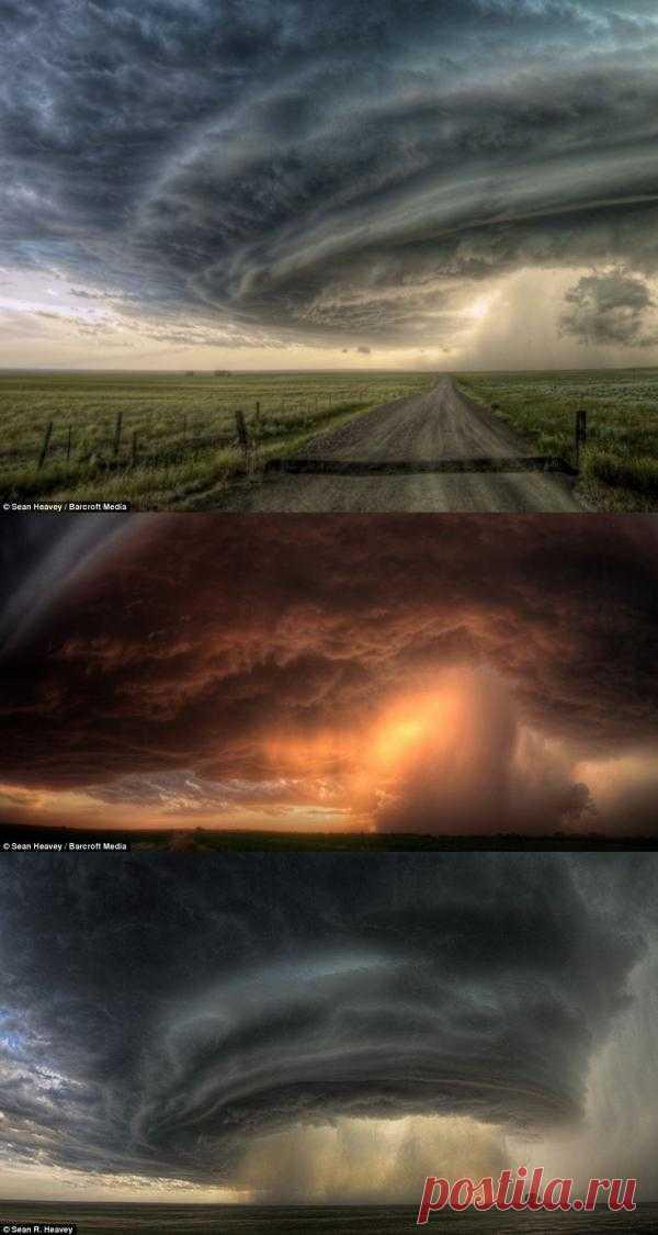 Фотограф-любитель, называющий себя «охотником за смерчем», Шон Хевейв, рискуя жизнью, фотографирует разрушительные стихии
