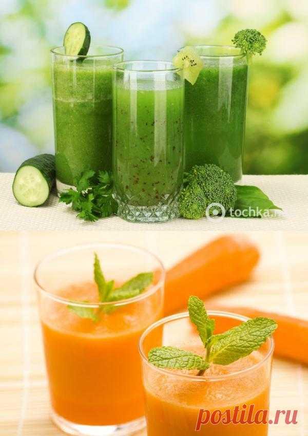 Рецепты смузи из овощей и зелени