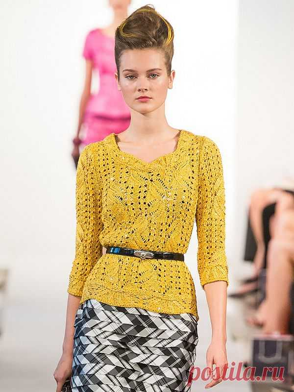 Вяжем солнечный пуловер, как у Oscar de la Renta - Электронный журнал по  вязанию на спицах