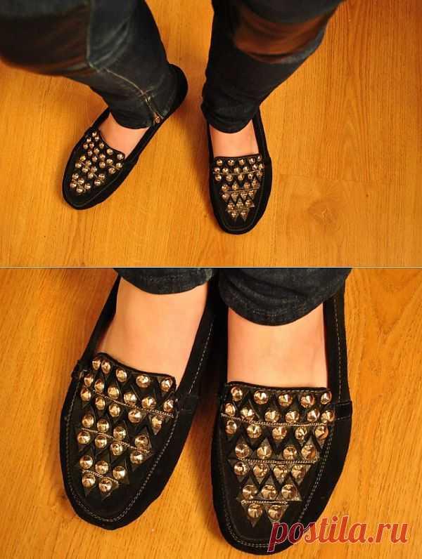 История с одноразовыми шипами / Обувь / Модный сайт о стильной переделке одежды и интерьера