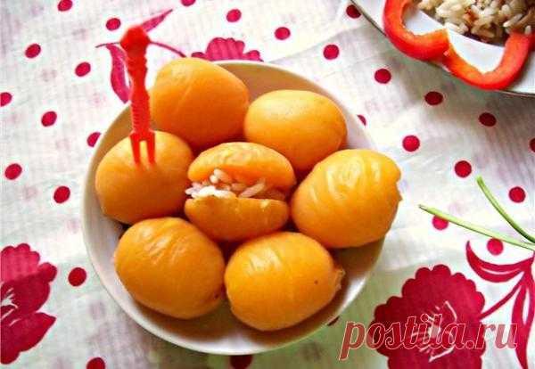 Кольбер из риса и абрикосов.