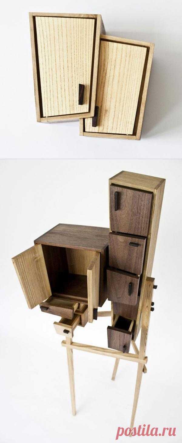 Шкафчик для любителей смелых решений. Если вам совсем нечем раскрасить свой минимализм в интерьере, или попросту нет денег на новую концептуальную мебель, то советую подсмотреть решение у западного дизайнера (тем более этакий стиль набирает оборроты).