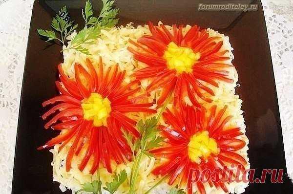 Салат Астра :: социальная сеть родителей http://forumroditeley.ru/viewtopic.php?t=8112 Рецепт приготовления салата Астра прост в приготовлении!