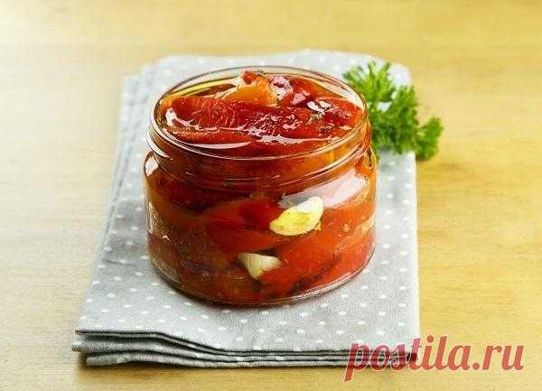 Сладкий перец, запеченный в духовке: рецепт на зиму