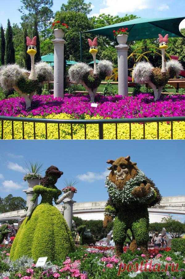 Международный фестиваль цветов в Epcot Center (Диснейлэнд, Орландо, штат Флорида.
