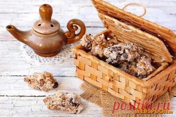 Печенье с орехами шоколадом и кокосовой стружкой с фото.