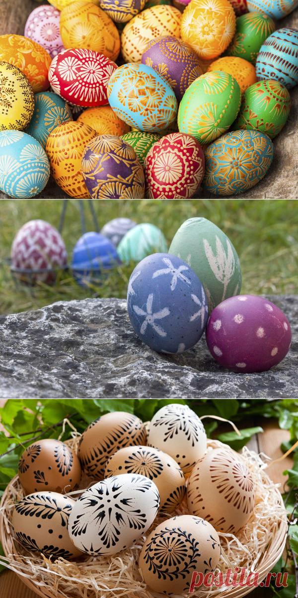 Как украсить яйца к Пасхе: 27 оригинальных идей декора и росписи.