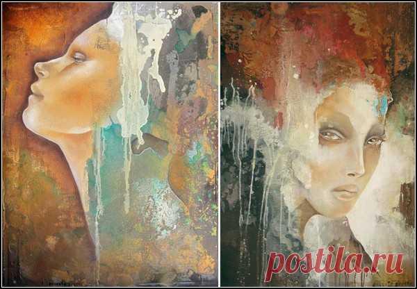 Женственность. Абстрактные портреты современных женщин от Паскаль Пратт (Pascale Pratte)