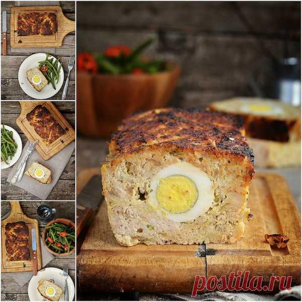 Мясной хлеб с яйцом. (Рецепт по клику на картинку).