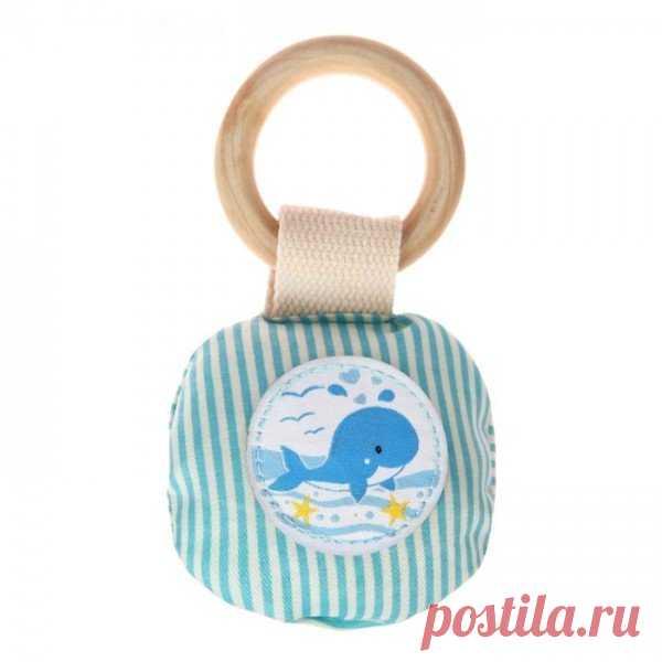 Кольцо деревянное с игрушкой для малыша
