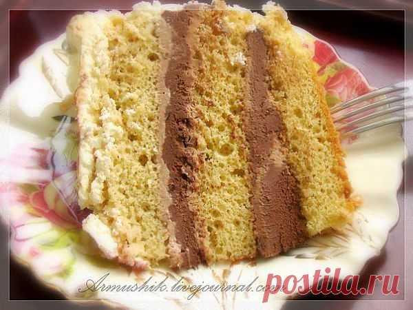 Высокий, нежный бисквит для любого бисквитного торта (Готовиться без духовки)