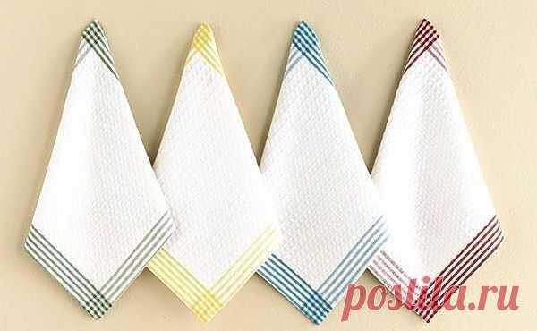 Как легко отбелить кухонные полотенца