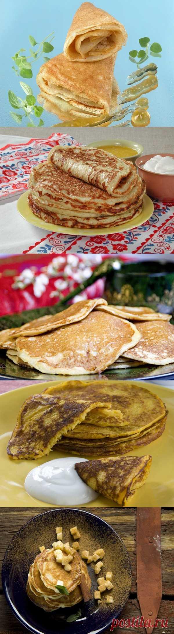 La mesa a las Carnestolendas Anchas: cocemos los crepes, preparamos blinchatye los pasteles (para la recepción de la receta presionen 2 veces la estampa)