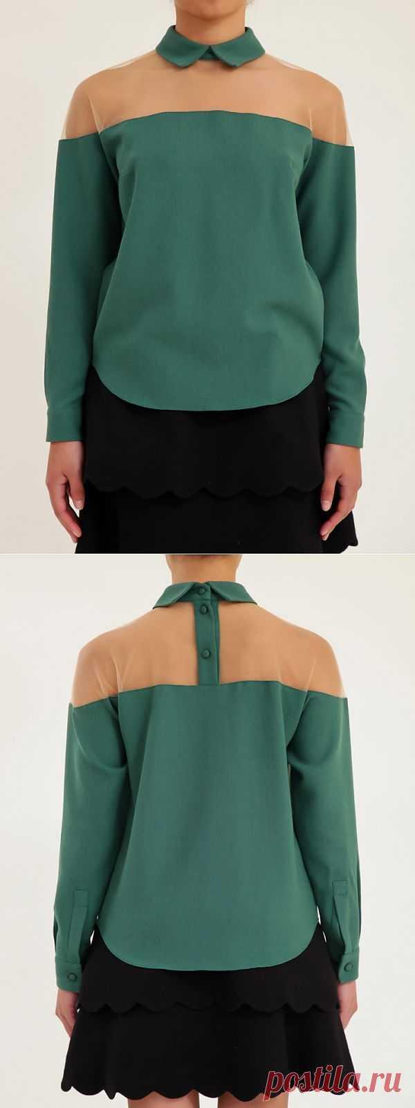 Прозрачная кокетка / Блузки / Модный сайт о стильной переделке одежды и интерьера