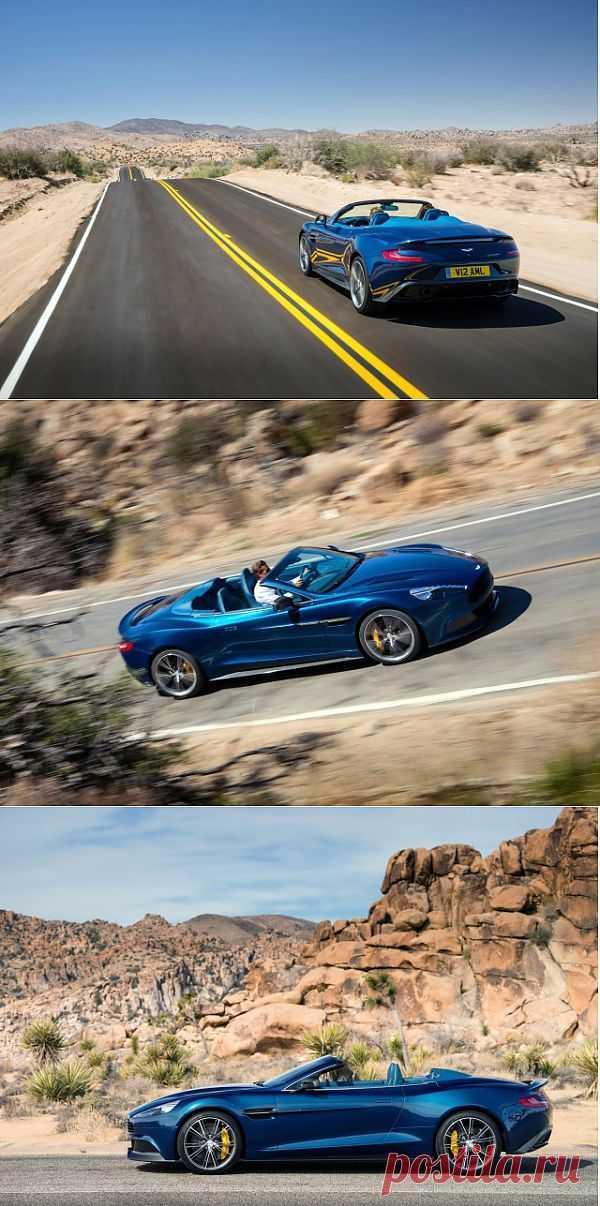 Открытый Aston Martin  - Vanquish Volante, Фотосессия на Pebble Beach