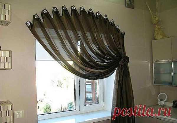 Топ-10 креативных способов как повесить шторы без карниза Читать далее...
