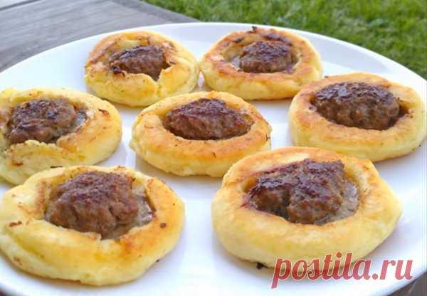 Закусочные пирожки из необычного теста за 5 минут | Идеи рецептов | Яндекс Дзен