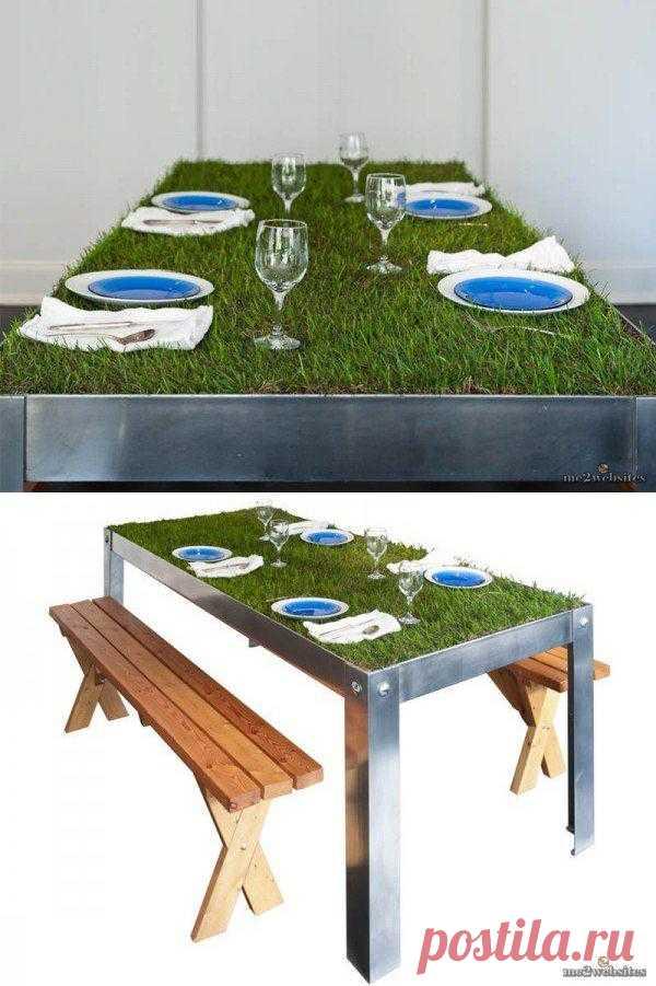 Кусочек природы или пикник на кухонном столе.