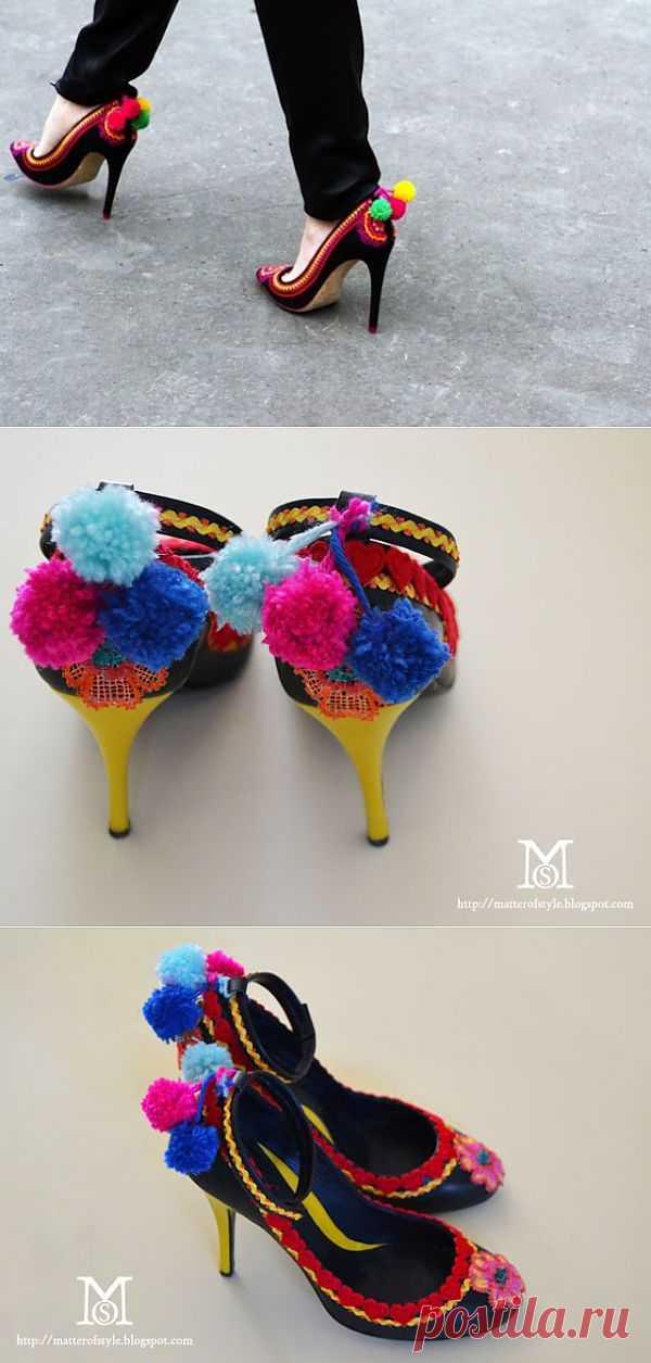 Веселенькие туфли (DIY) / Обувь / Модный сайт о стильной переделке одежды и интерьера