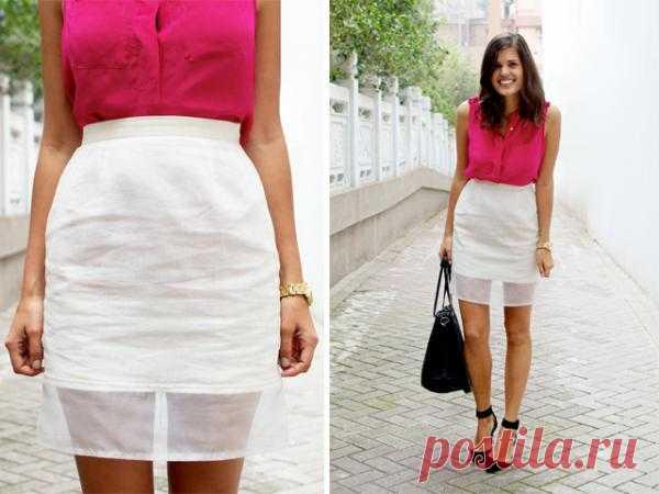 Шьем юбку модного фасона