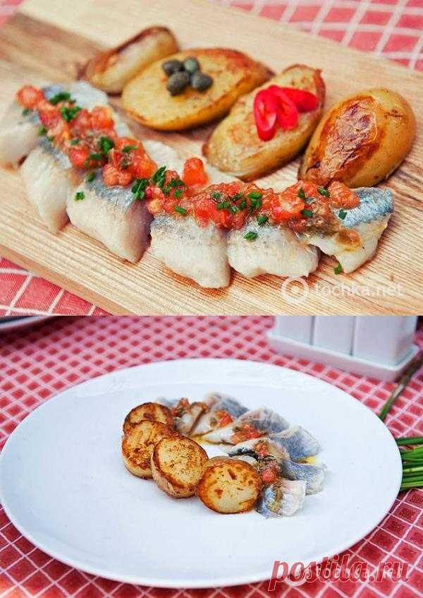 закуска из норвежской сельди с картофелем гриль