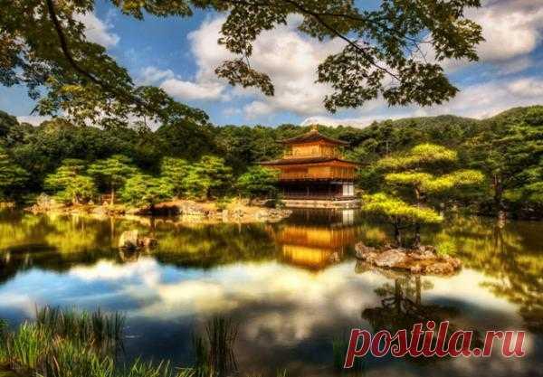 Сад Ryoan-ji Zen Garden в Японии
