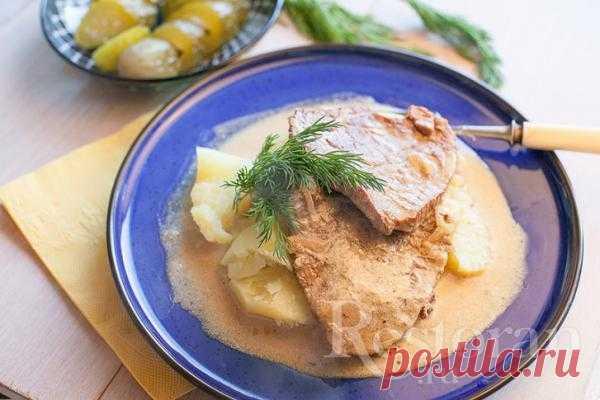Рецепт говядины тушеной в сметане