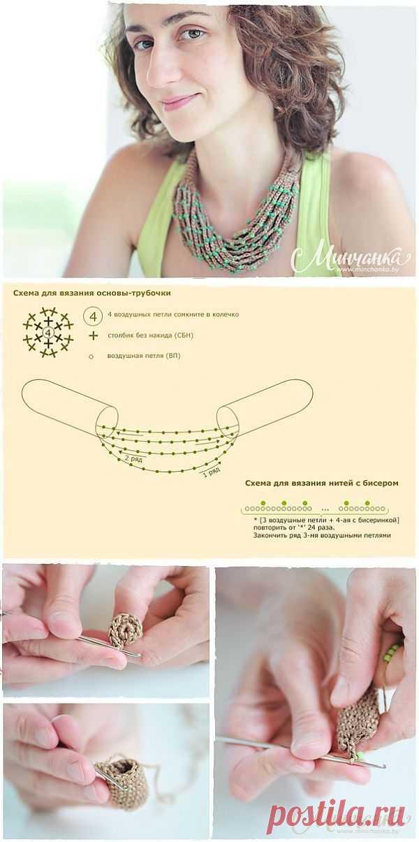 Вязаные бусы с бисером (Diy) / Украшения и бижутерия / Модный сайт о стильной переделке одежды и интерьера