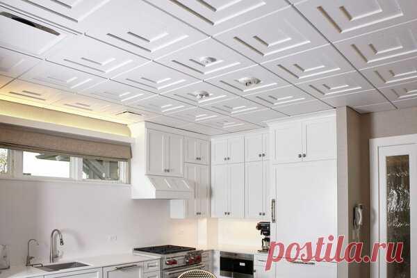 Как правильно поклеить потолочную плитку на кухне? | Блоги о даче, рецептах, рыбалке