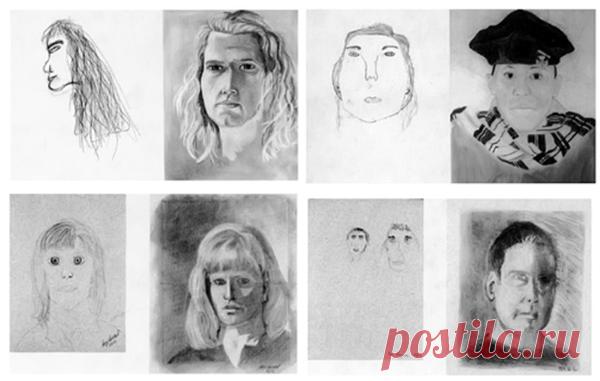 Авторов первых рисунков никак нельзя заподозрить в наличии художественных способностей.