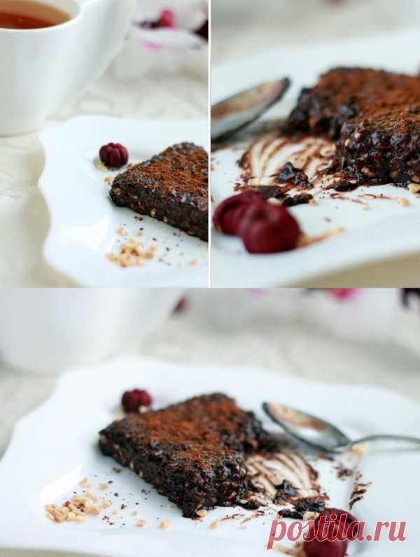 """""""Сырой"""" брауни - холодный десерт без сахарa. (Рецепт по клику на картинку)."""