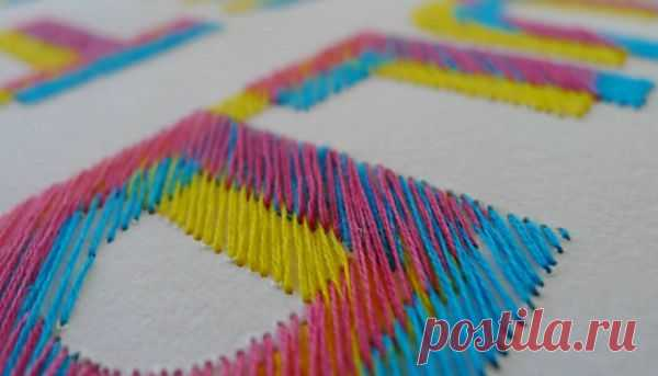 Как красиво вышить буквы (DIY) / Вышивка / Модный сайт о стильной переделке одежды и интерьера