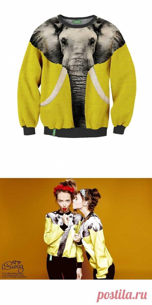Свитер слон / Рисунки и надписи / Модный сайт о стильной переделке одежды и интерьера