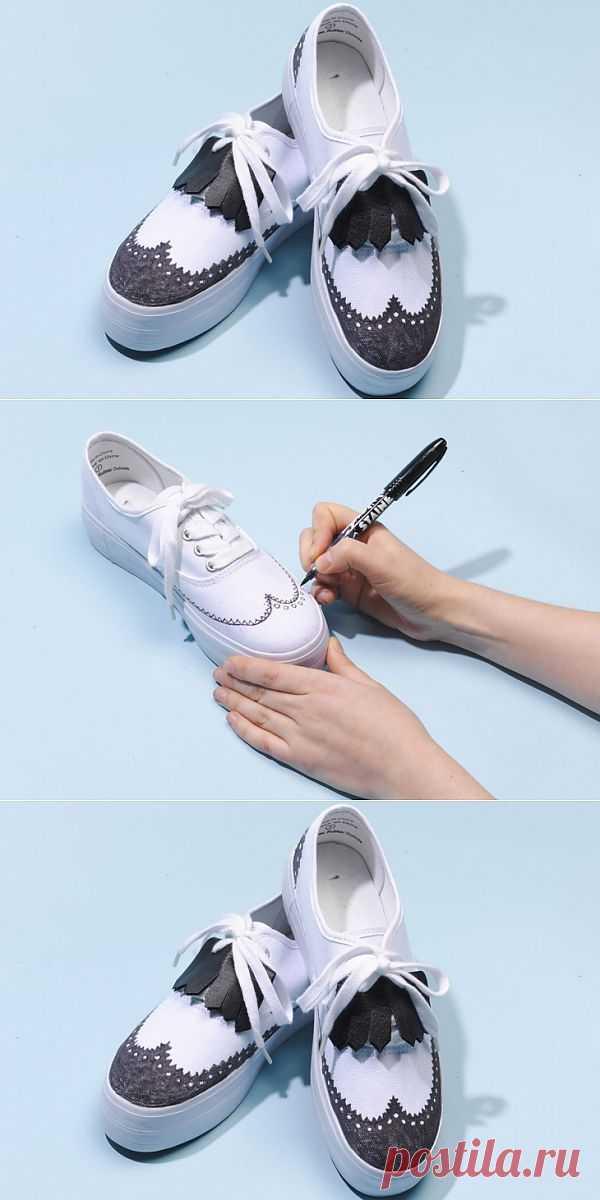 Брогги из кед № 2 (Diy) / Обувь / Модный сайт о стильной переделке одежды и интерьера
