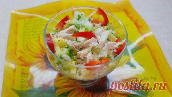 Витаминный салат «Летнее настроение» кулинарный рецепт приготовления с фото